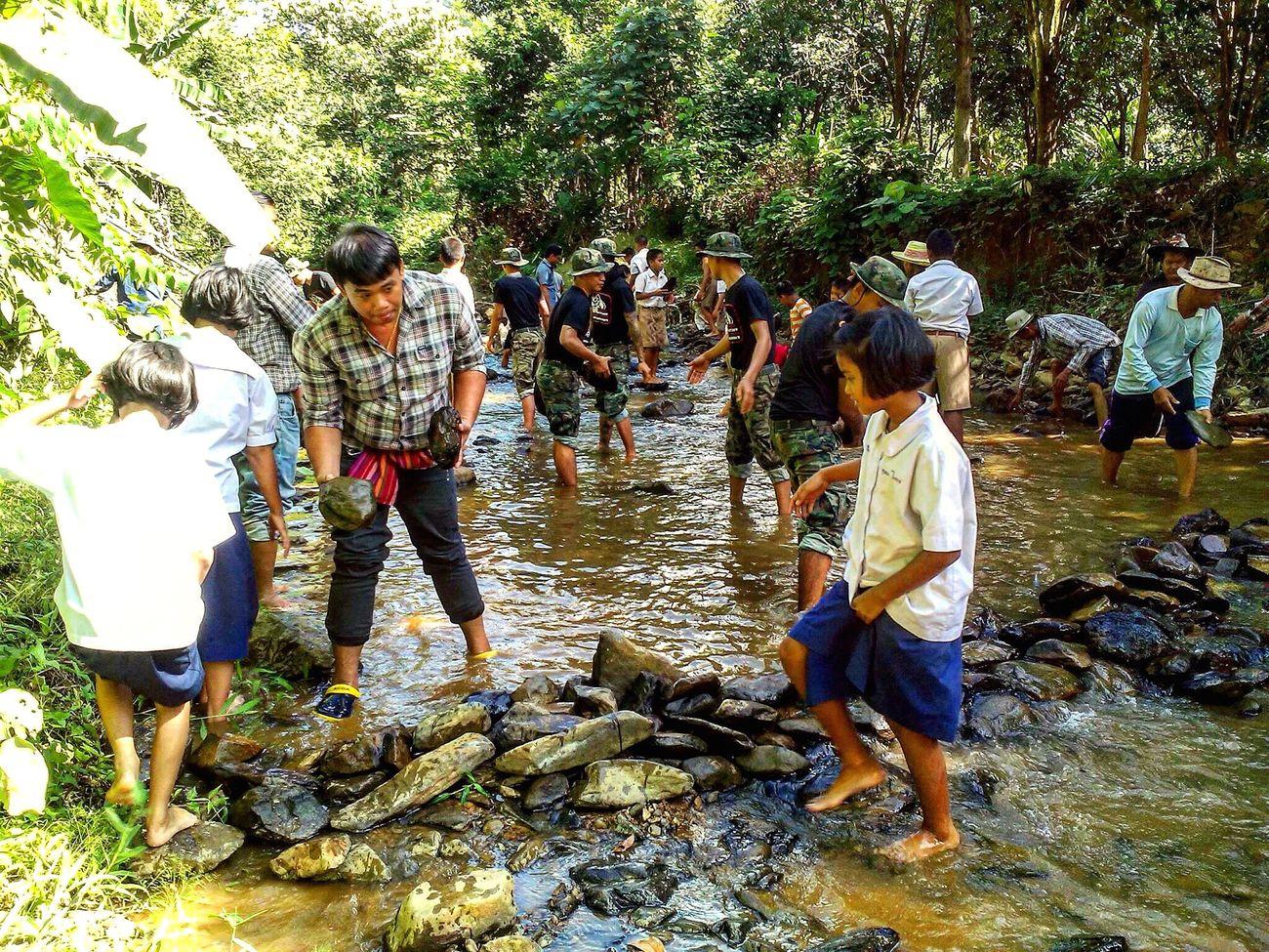 โครงการฝายชะลอน้ำเฉลิมพระเกียรติ ฯ Checkdam Taking Photos Helpful Harmony EyeEm Thailand EyeEm Nature Lover Nature Eye4photography  EyeEm Best Shots Stream Hello World Thailand