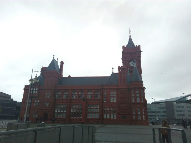 Cardiff Wales UK Uk Red Architecture Travel Destinations Building Exterior Outdoors Gales Reino Unido