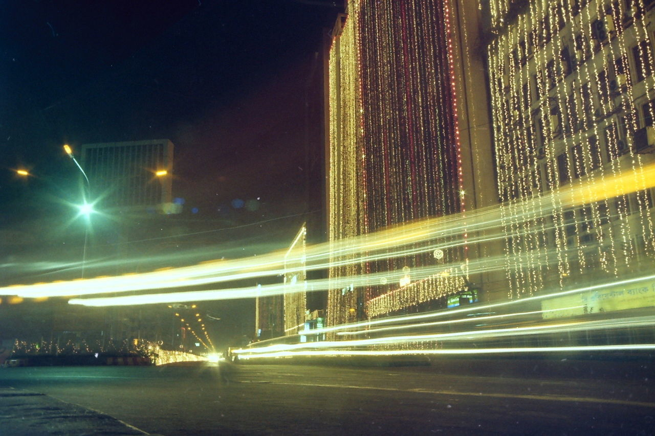 City City Street Dhaka Illumination Light Streaks Light Trail Lights Long Exposure Motion Night Road Road At Night Rush Hour Speed Vehicle Light
