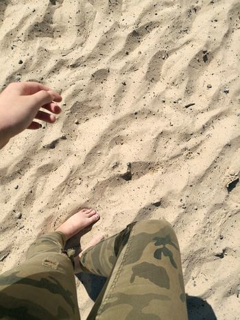 Sand Beach Human Body Part Human Leg Low Section One Person FootPrint Day Outdoors Vacations Shadow Summer Real People Nature People Close-up