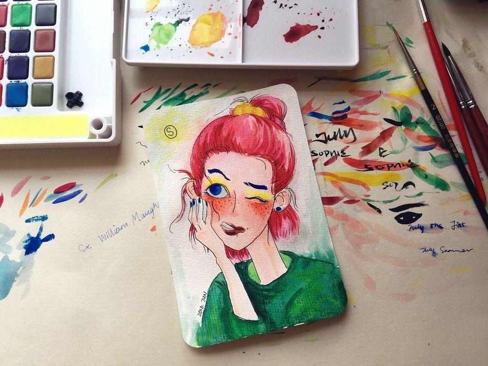 Art ChineseArt Sophiesart Watercolor Watercolor Painting Drawing ThatsMe
