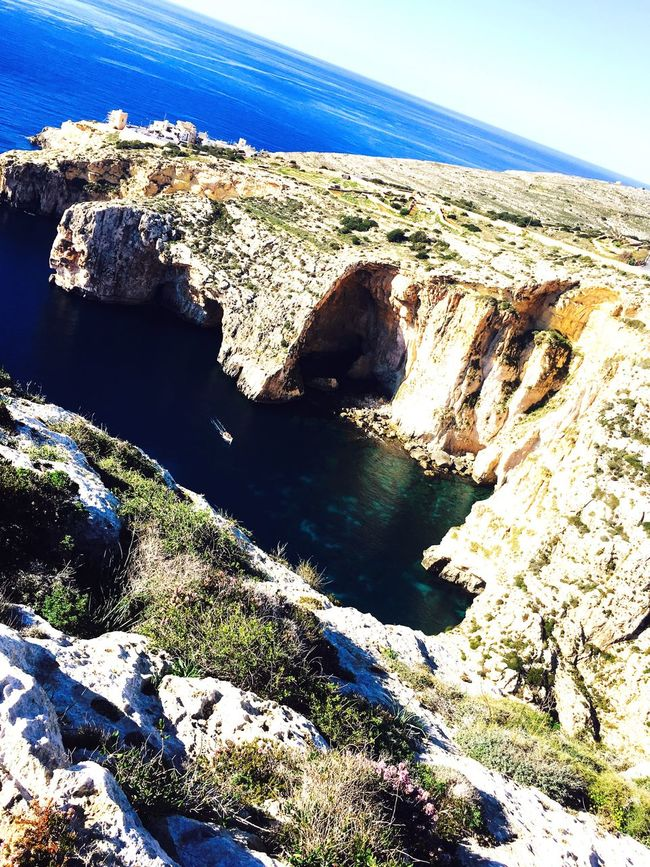 Home town 😍💕👊🔝 Zurrieq Wied Iz-Zurrieq Bluegrotto Malta Beautiful Sea And Sky Sea