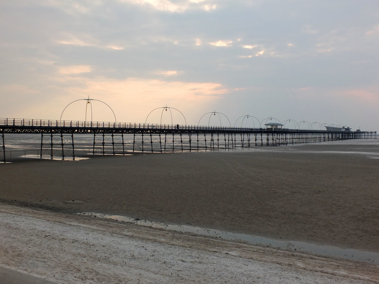 southport beach and pier Architecture Beach Beauty In Nature Built Structure Day Horizon Over Water Nature No People Outdoors Sand Scenics Sea Sky Southport Southport Pier Sunset Water