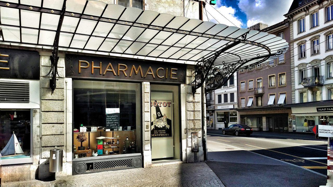 Architecture Pharmacy Pharmacie Apotheke Building Street Baldachin Art Deco