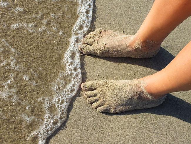 Alone Beach Coast Feetselfie Outdoors Innocence Lather Legs Moment Sand Sand And Sea Sandfeet Sandy Feet Sea Standing Suds Vacations Waiting Water Feet