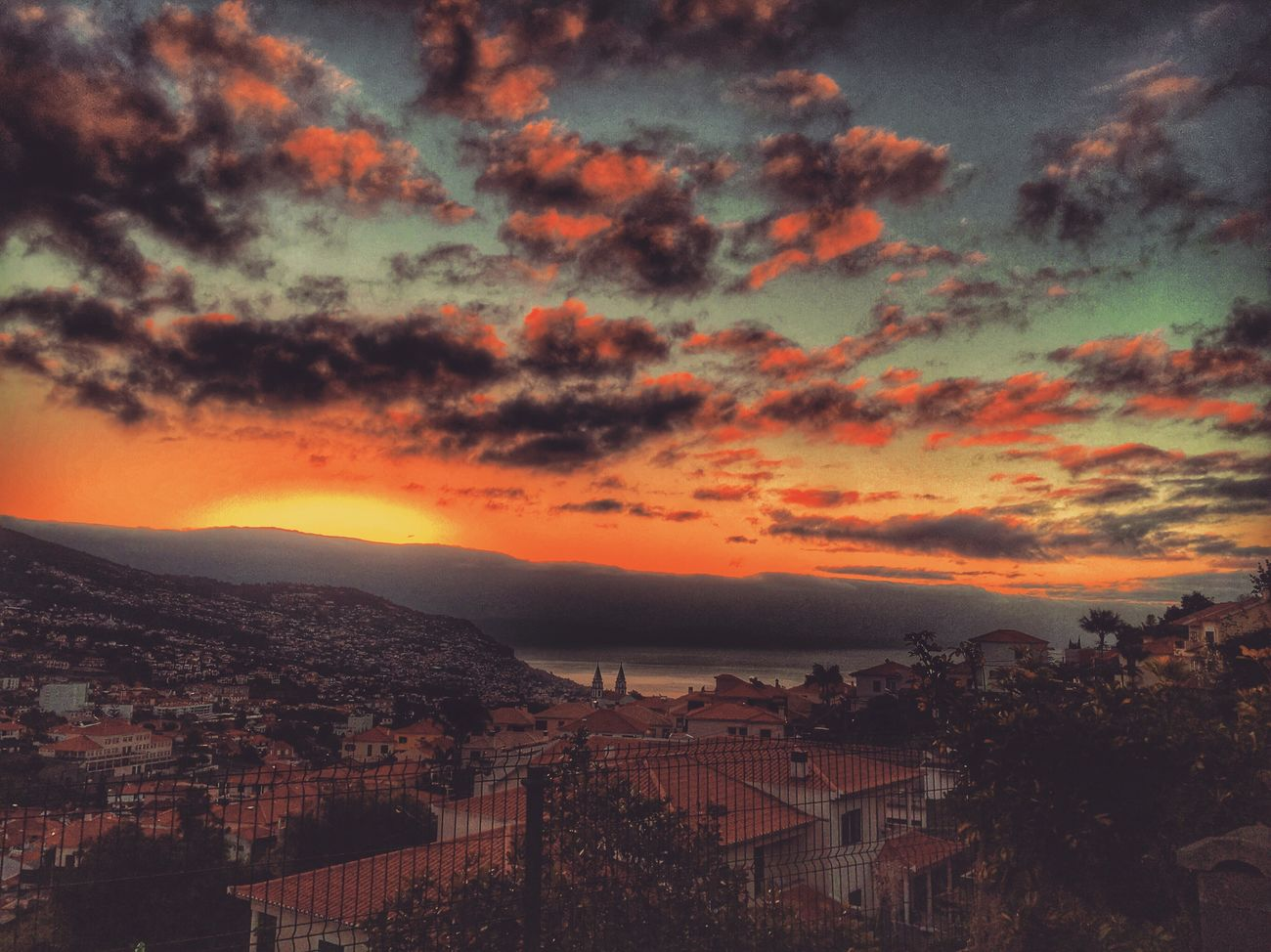 Madeira Island Funchal IloveMadeira Visitmadeira Sunrise Sun Sky Clouds Nature Nature Photography Iphone6s Photography Snapseed HDR First Eyeem Photo