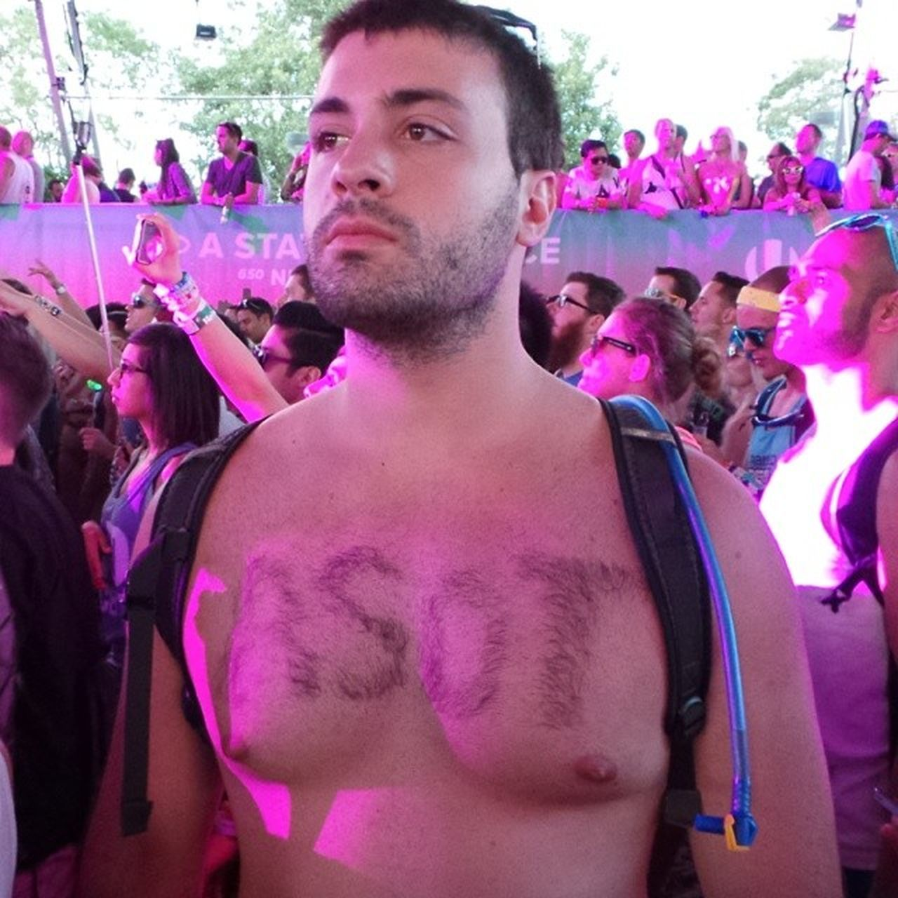 I've heard of a HairTattoo but an ASOT650US CHEST HAIR Tattoo ??? Ultra2014 ASOT dedication!