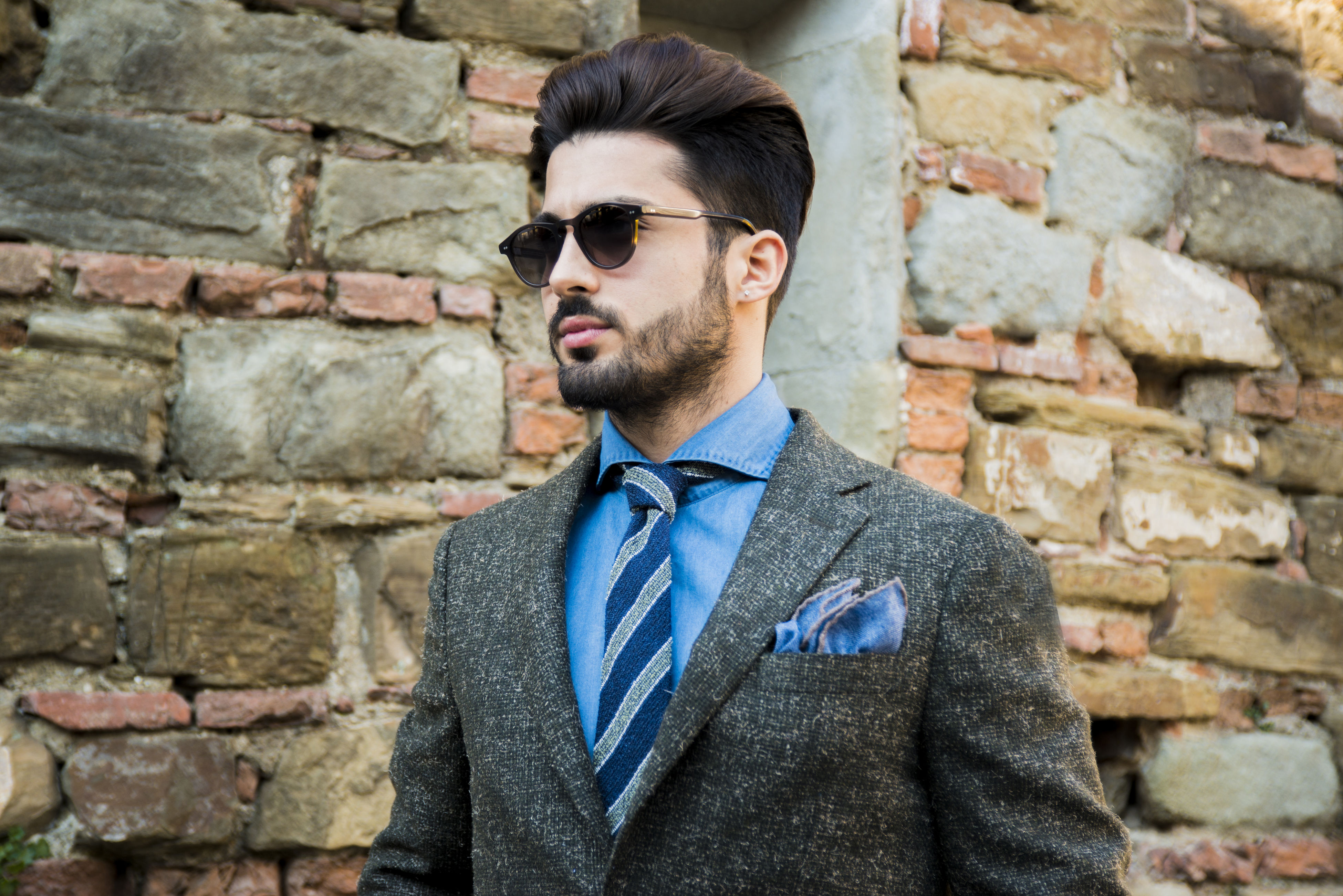 beard, only men, one man only, adults only, handsome, one person, men, fashion, brick wall, adult, real people, portrait, well-dressed, people, outdoors, businessman, close-up, day