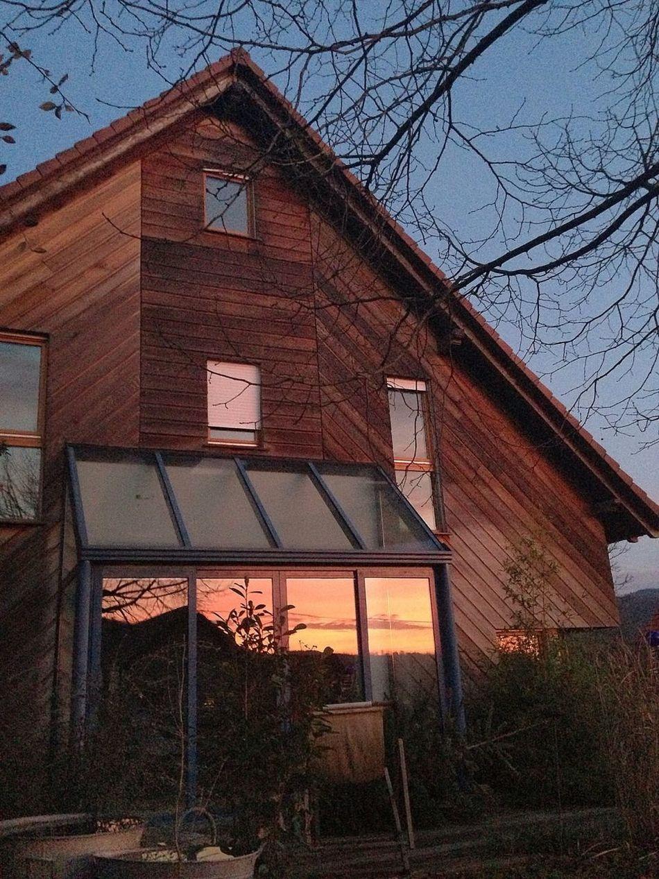 House Sunset Reflection
