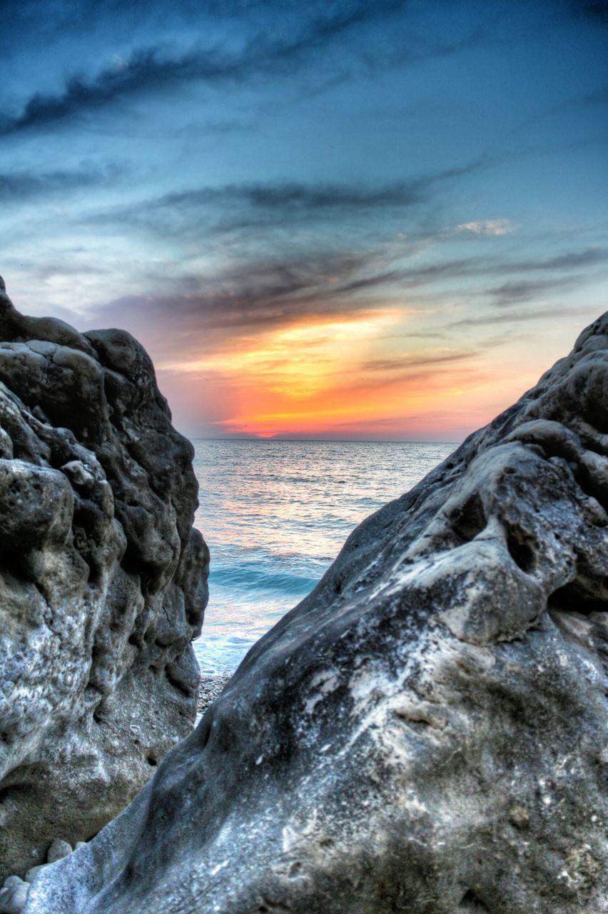 Beautiful nature scenery at sunset