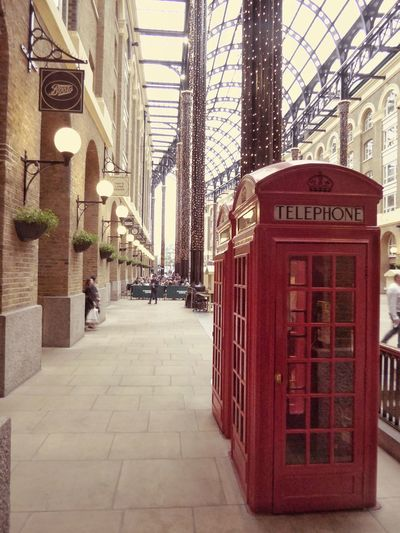 Hays Galleria Telephone Box London Red Telephone Box British Great Britain Architecture City City Life Day British Traditions London Bridge Phonebox Telephone Booth Red Travel Destinations Travel Travel Photography EyeEmNewHere