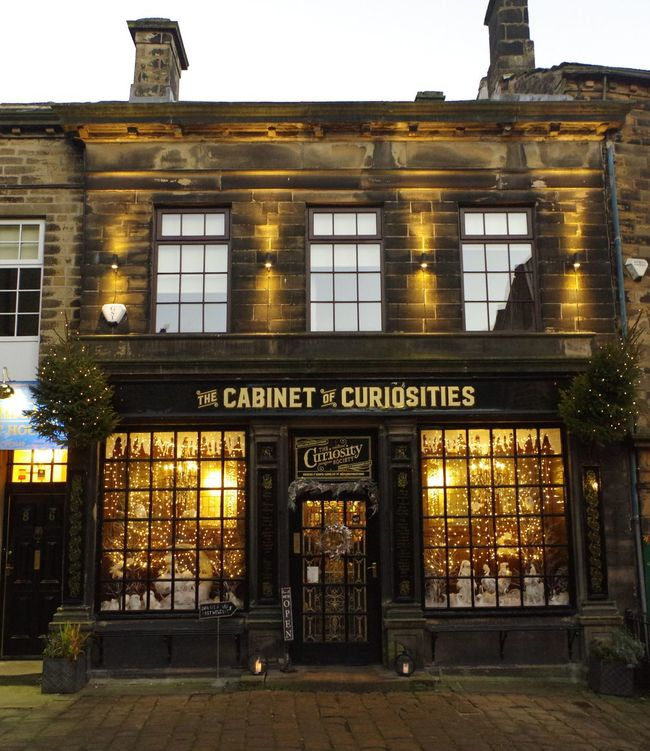 The Cabinet Of Curiosities Entrance Built Structure Travel Destinations Architecture Building Exterior Outdoors Victorian Shop Bronte Christmas Around The World Retail  Tourist Attraction  Haworth Yorkshire Giftshop Christmas Shopping Time Christmas Decorations Townscapes Architecture Window Festive Curiosity Shop Store Window Store