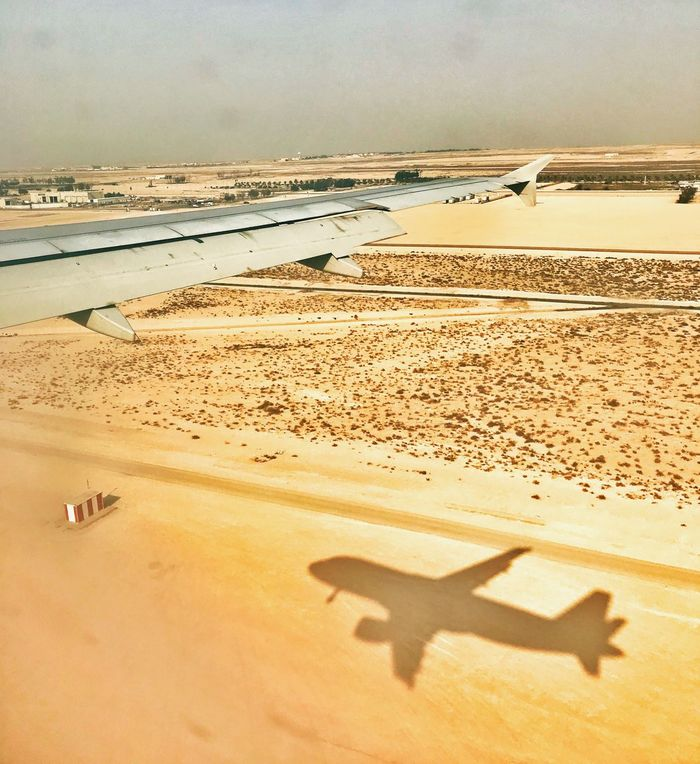 Shadow No People Desert Sky Travel Destinations Travel Airplane Connected By Travel