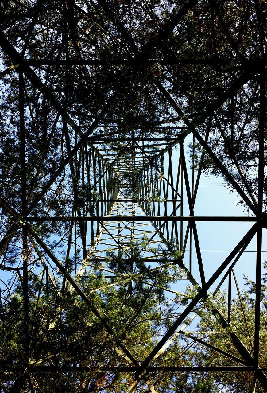 Directly Above Shot Of Electricity Pylon
