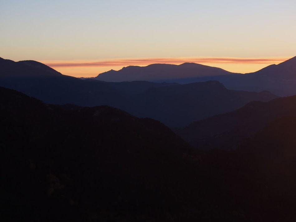 Sunset Mountain Sky Landscape Beauty In Nature Travel Nature Dramatic Sky Forest Scenics No People Outdoors Mountain Range Castellar De N'hug Catalunya