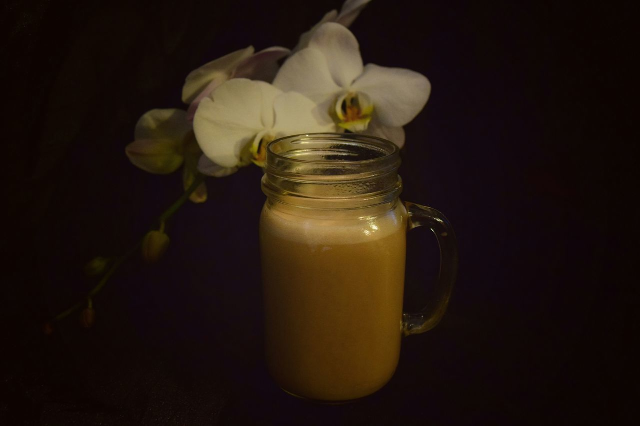 Liquid Lunch Showcase: February Black Background Orchid Blossoms Eye4photography  EyeEmBestPics Eyemphotography Eyeem Photography EyeEm Best Shots Coffee Time Coffee From My Point Of View EyeEm Gallery My Favorite Breakfast Moment