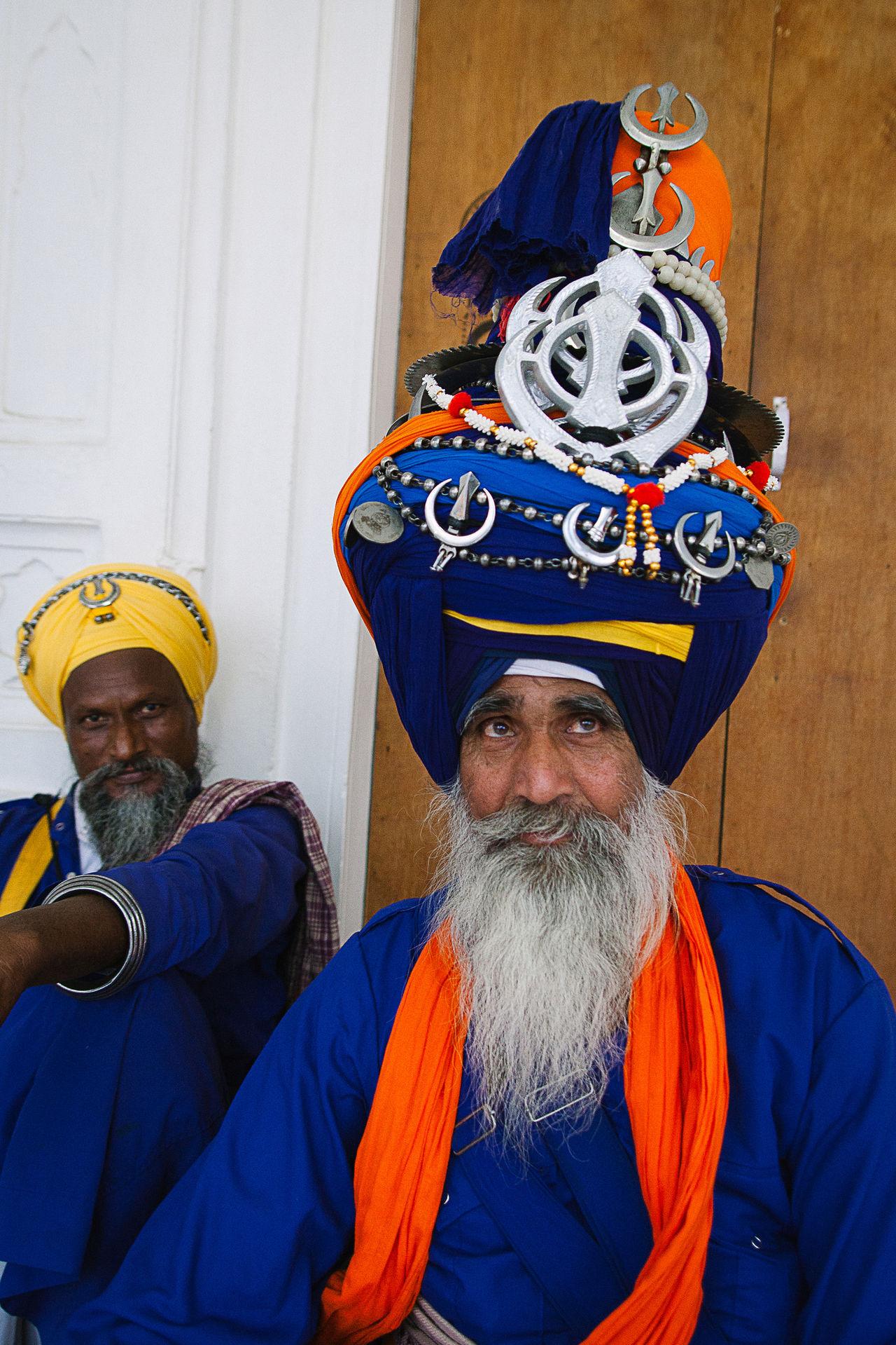That's a big turban! Portrait Beard Adults Only Traditional Clothing Old-fashioned Adult People Men Punjab Amritsar Golden Temple Gurudwara Guru Sikhism Sikh Indian India Human Body Part