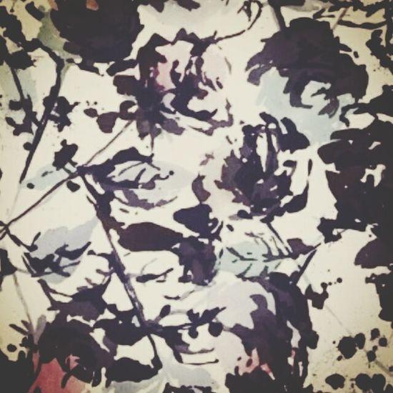 Watercolor Ink ArtPattern Roses🌹 Onpaper Artoftheday Bestoftheday