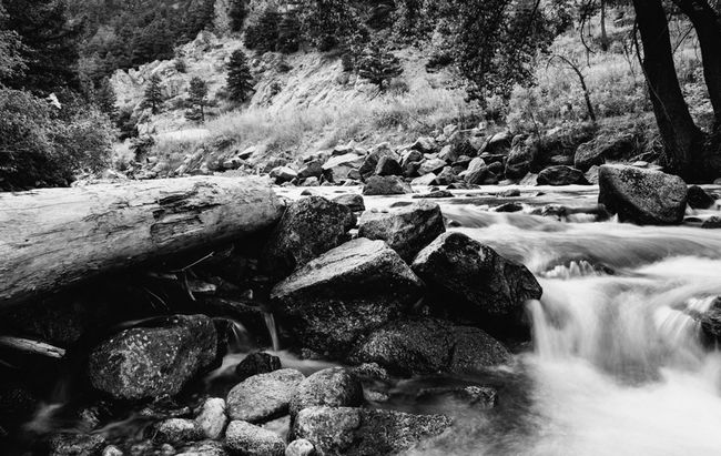 Protecting Where We Play Blackandwhite NEM Black&white Bw_collection One from a black and white series of photographs taken in the Rockies on a recent trip across Colorado. Shot while standing in a stream near Boulder, CO Edge Of The World