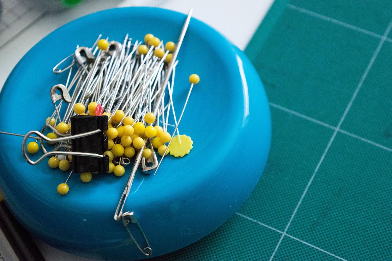 Blue Close-up Crafts Creativity Day Indoors  Needles No People Notions Pin Cushion Pins Sewing Tools