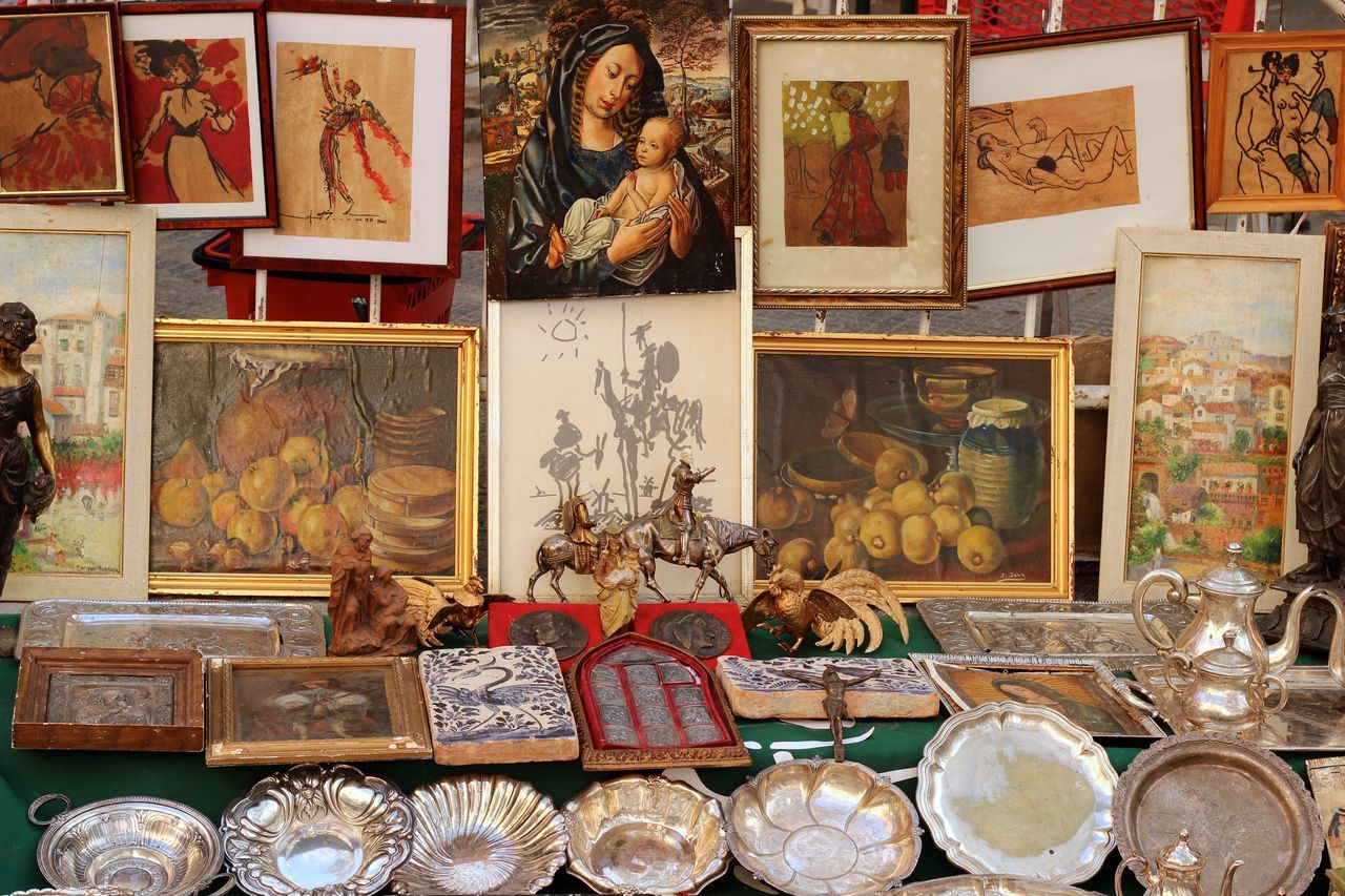 Day Holy Signs Lots Of Pictures Marktet Place, Knick Knacks No People Outdoor Photography Stange Collection Variation