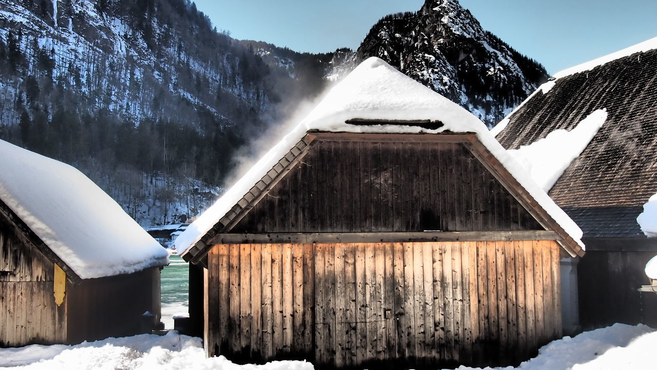 Architecture Barn Bavaria Bayern Berchtesgadener Land  Building Exterior Built Structure Cold Cold Temperature Day Frozen House Ice Königssee Mountain Nature No People Outdoors Scenics Schönau Schönau Am Königsee Snow Snowcapped Mountain Weather Winter