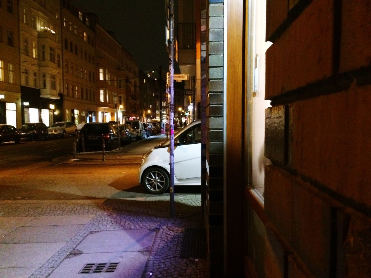 Yheeha a Parking Lot Sticking Out just in the Middle Of The Road Dont Be Square Found It City Streets  Night View Berlin Mitte
