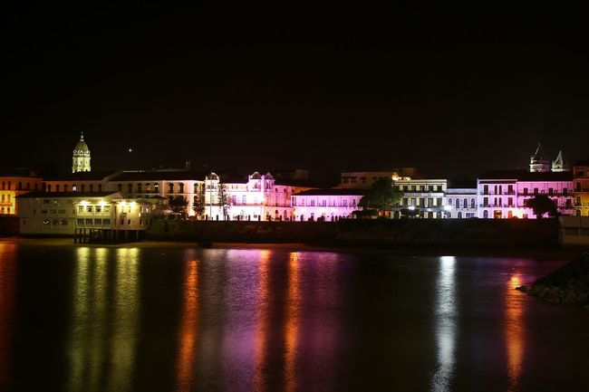 Night view of Casco Antigüo at Panamá City Panamá Panama City Place Panamanian Oldstyle Water Illuminated Building Exterior Night Architecture Reflection No People Scenics City Panama507