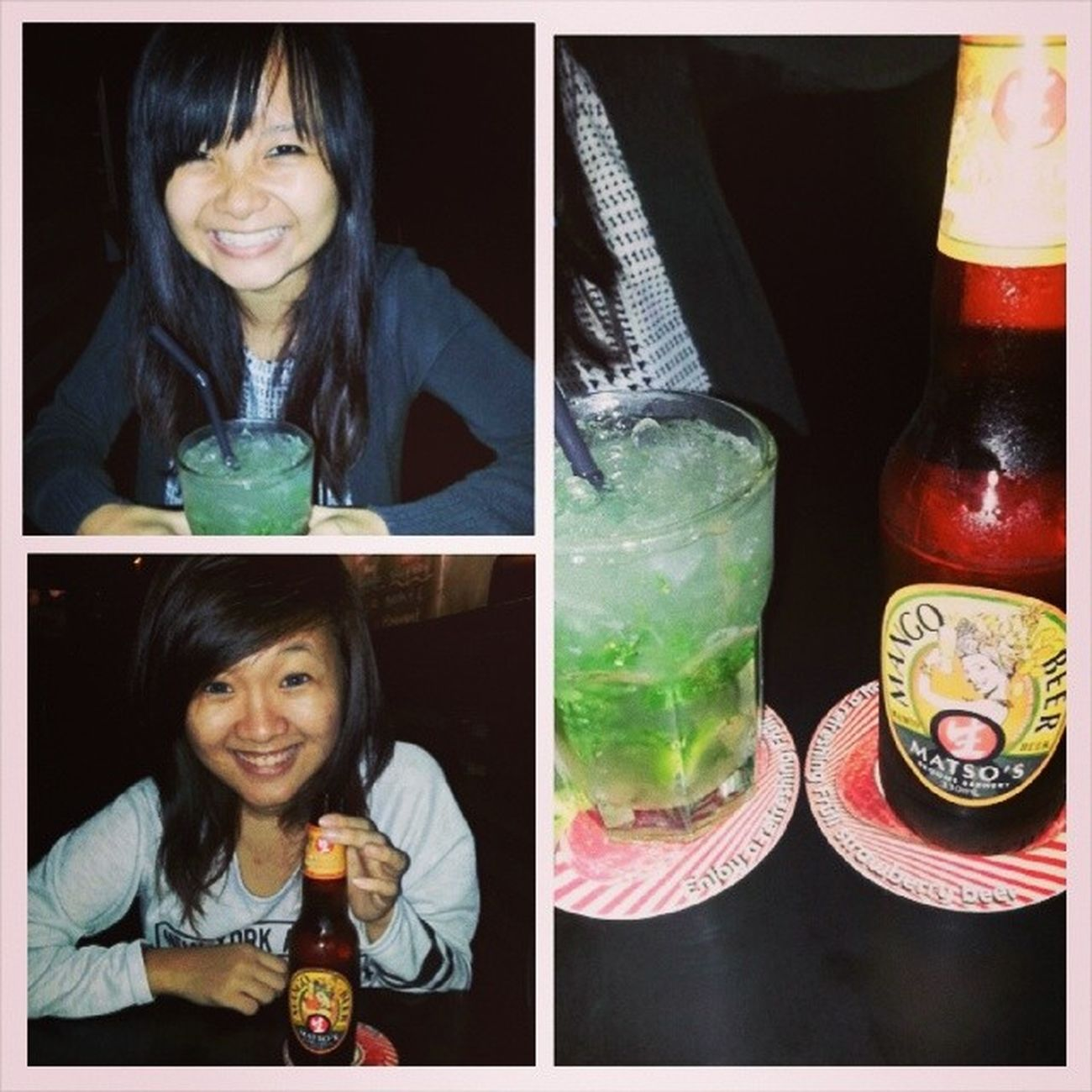 Chillax with bestie👍👍👍 Ended my night with bestie at beer market. The service and live band was really good! The live band (Lemon Jelly Pop) has great vocals 👍 . And the staff over there recommended me a good drink which is their mojito (I think it spells like this) , really like the peppermint taste which is totally good for the sick me HAHA, whike bestie ordered mango beer. Ps: Hope you enjoyed the evening/night with me hehe! Post birthday outing with bestie. Drinkdrinkdrink Beermarket Chillax Night mojito mangobeer greatliveband lemonjellypop wednesdaynight bestservice bestie loves