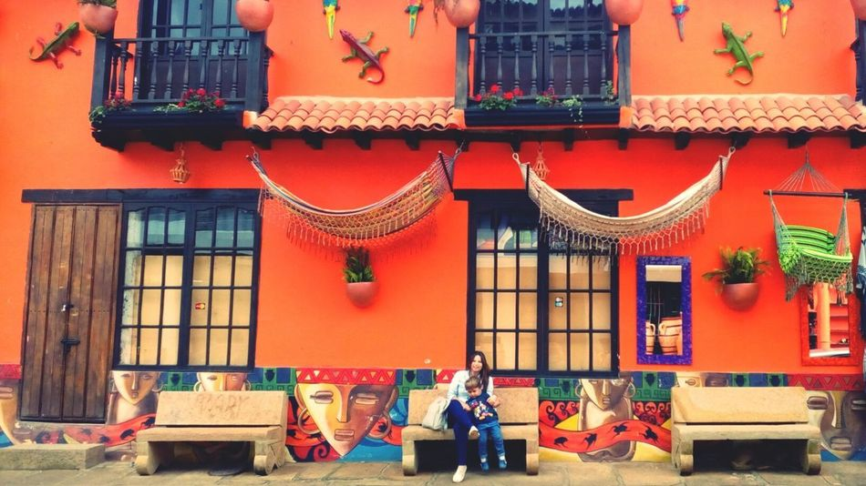 Outdoors Architecture Red Day City Building Exterior No People colombia; Boyaca