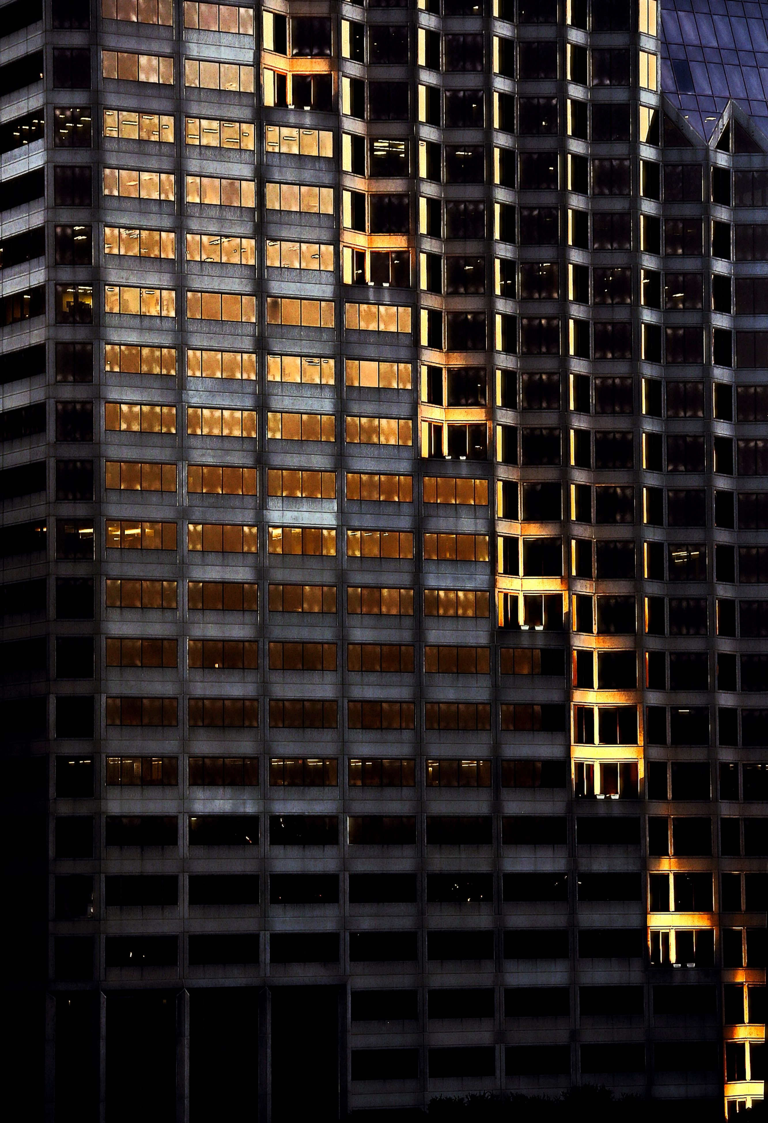 building exterior, architecture, built structure, modern, city, building, office building, low angle view, pattern, skyscraper, full frame, window, tall - high, backgrounds, tower, reflection, outdoors, glass - material, no people, repetition