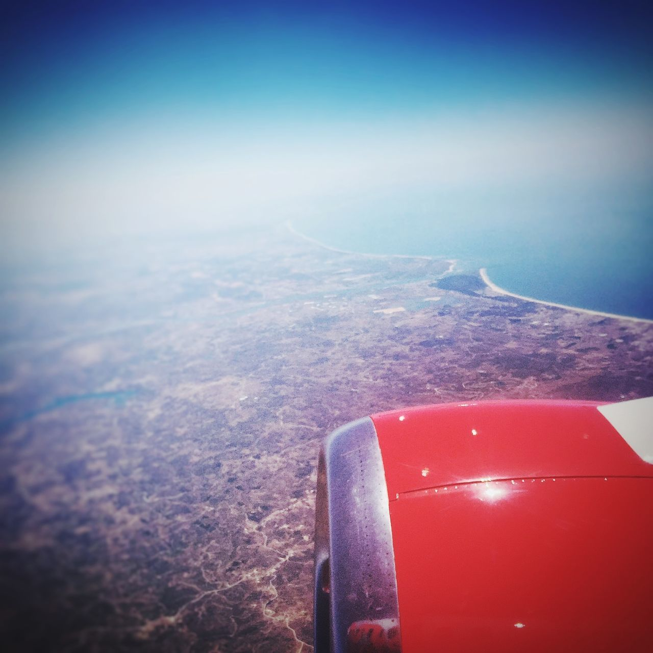 Goodbye Portugal View From An Airplane Jet2 Up In The Air Faro The Flight Home Portugal From An Airplane Window