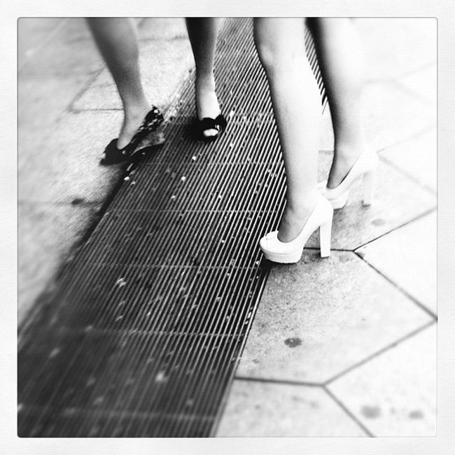 Black and White Heels Berlin Alexanderplatz