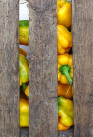 Good morning and afternoon all! It's time for that harvest of nature's delicious wonders. That crate has less four of those, took em with me. Of course I payed for them.😋 Nature's Bounty Peppers Wooden Crate Photography