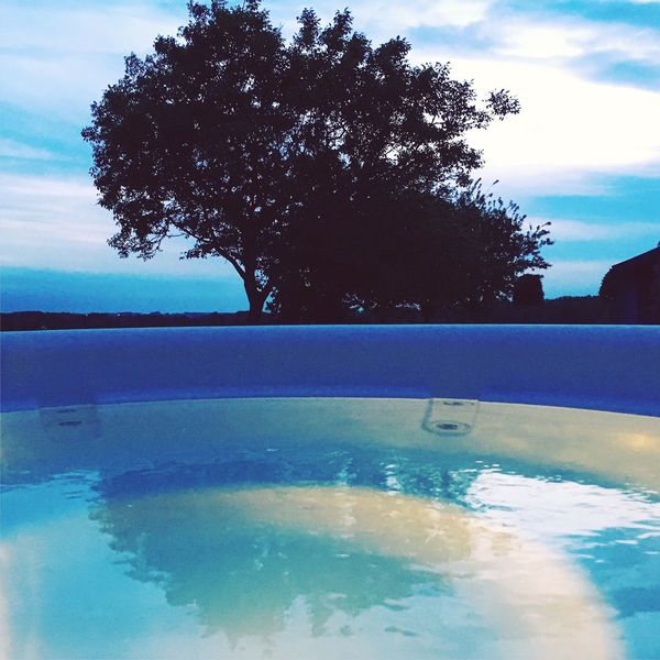 Sky Cloud - Sky Tree Water No People Beauty In Nature Scenics Nature Outdoors Tranquility Day Swimming Pool Close-up Jacuzzi  Jacuzzi Time