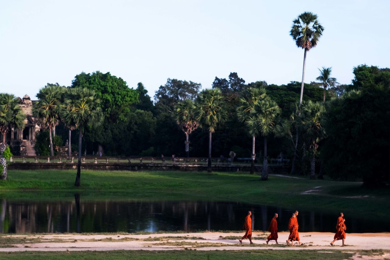 First picture to share after my adventures in Asia. First stop Cambodia. First photo upload from Angkor Wat. Angkor Wat ASIA Beauty In Nature Buddhist Clear Sky Local Life Nature Outdoors Palm Tree Real People Religion Religion And Tradition Travel Photography Traveler Traveling Water My Year My View