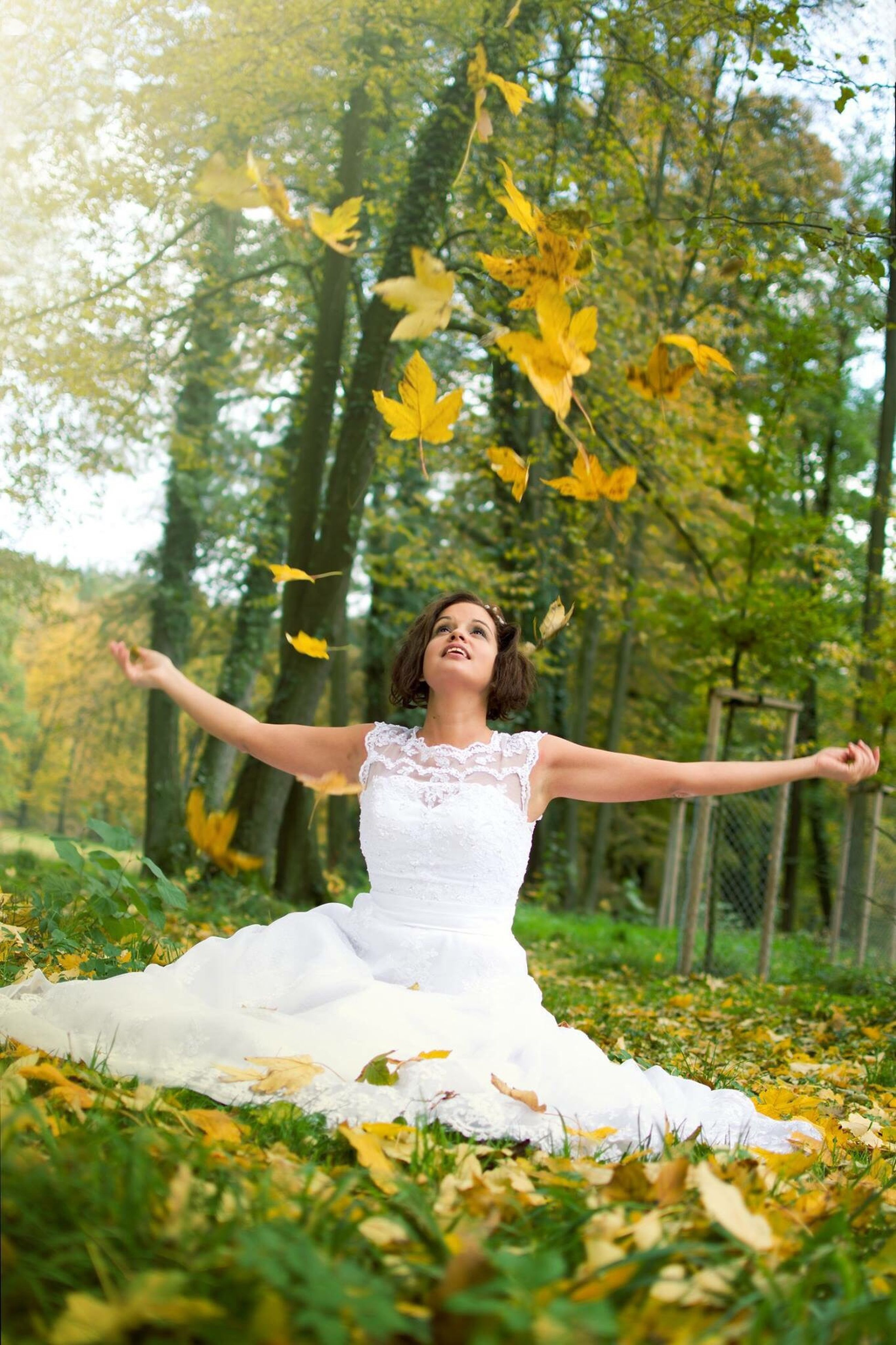 beauty, nature, arts culture and entertainment, tree, human body part, young adult, lifestyles, healthy lifestyle, beautiful people, yellow, wellbeing, flower, people, women, adult, time, one person, beauty in nature, charming, outdoors, space, cultures, freshness, day