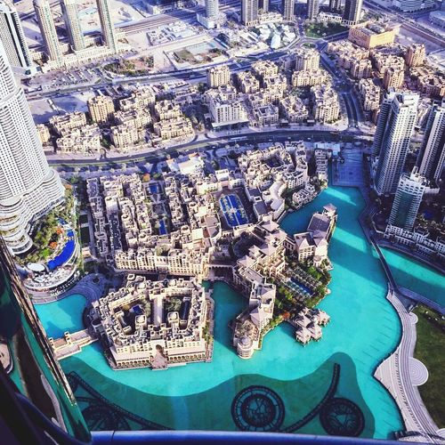 View from top of Burj Khalifa, Dubai At The Top Burj Khalifa Dubai High Angle View
