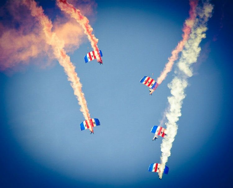 """Tighten up into formation"" Sunderland Air Show 2014 Air Show Parachutes Taking Photos"
