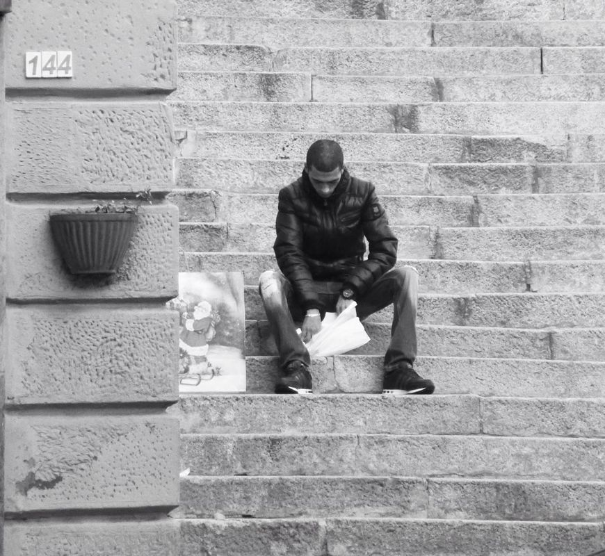 Sandwich time streetphotography blackandwhite black and white Black & White TheMinimals (less edit juxt photography) streetphoto_bw italianbrother eye4photography  by Giorgio (zaccaria_sumuru)