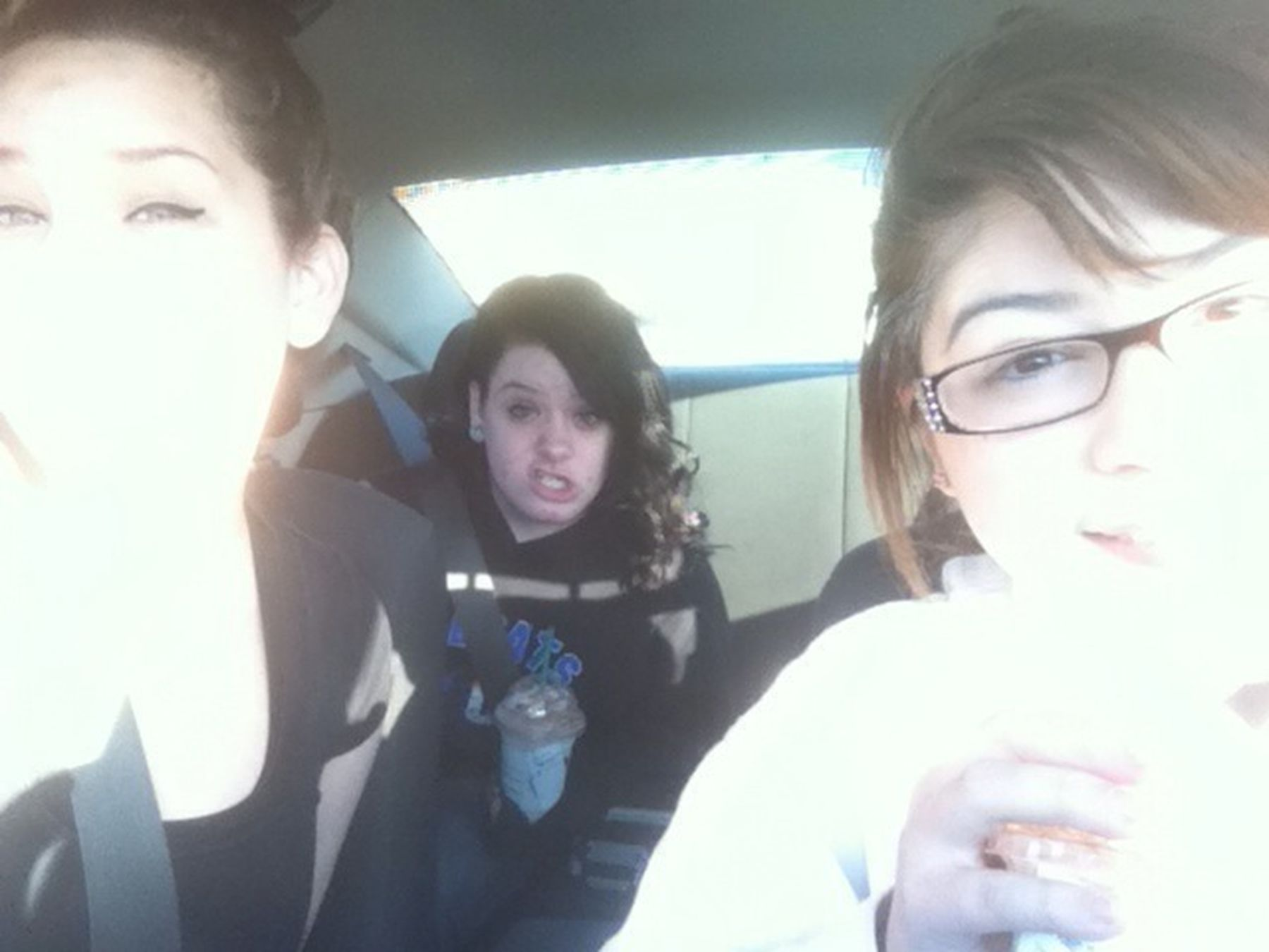 When Lela Drove me & Halie To Starbucks >