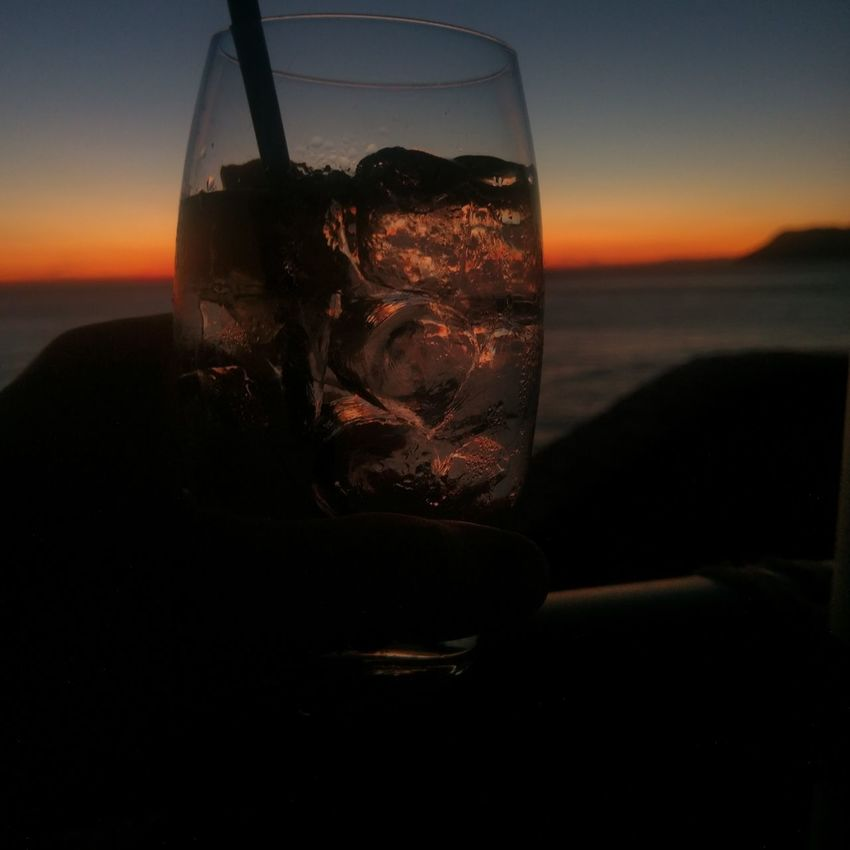 Cinque Terre sunset with a G&T Sunset Sky Silhouette Outdoors Gintonic Gin & Tonic GIN Riomaggiore Cinque Terre Italy Italia Drink EyeEmNewHere Adapted To The City