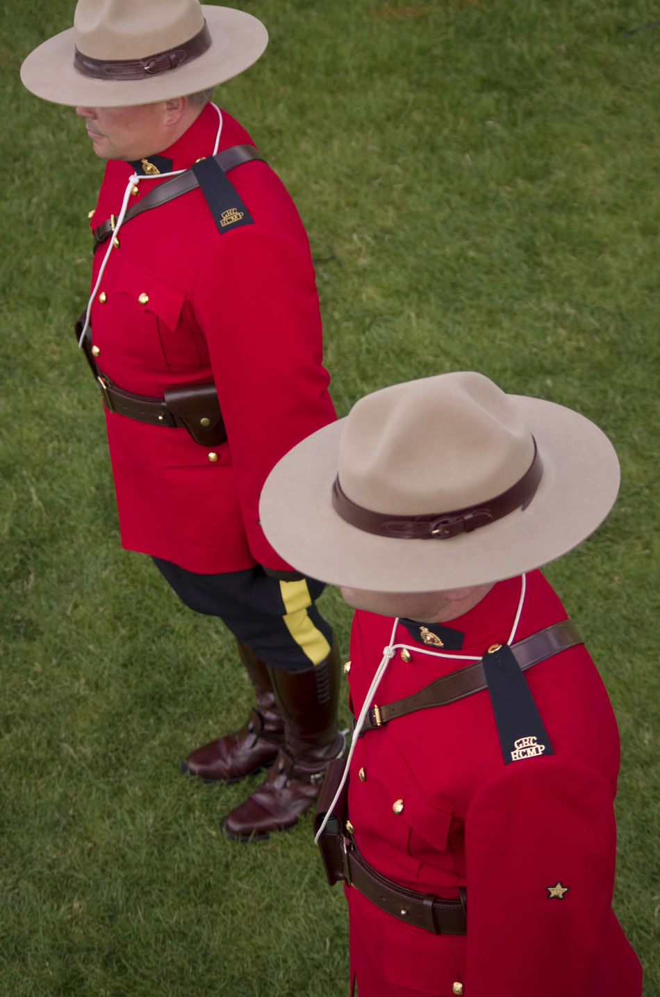 Attention Canada Canadian Day Grass Outdoors Police Rcmp Real People Red Royal Canadian Mounted Police Standing Two People