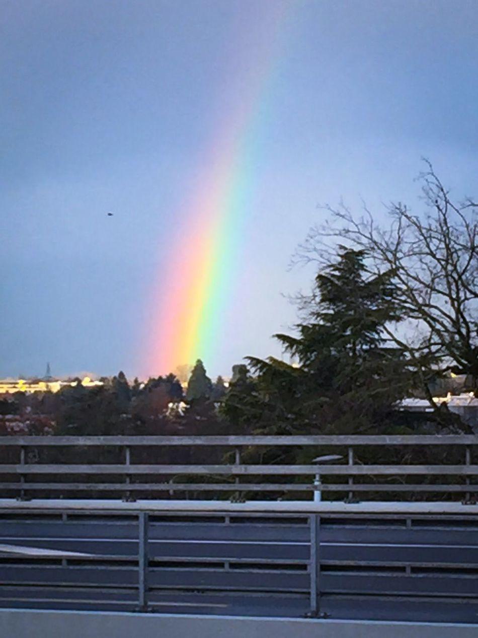 In Genève Geneva Arc-en-ciel  ce matin☺️