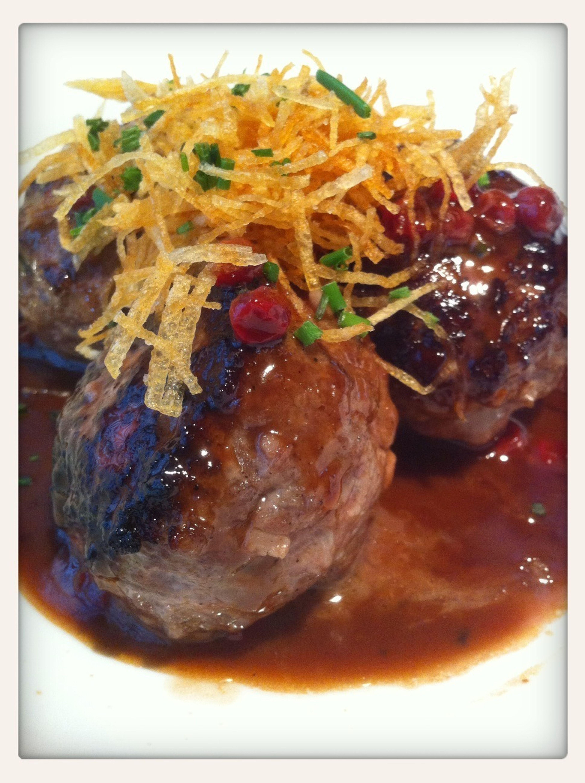 Bison Meatballs
