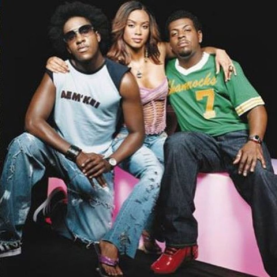 "When I saw this, the caption read ""Claudette Ortiz with her two ex boyfriends ❤"" ????? TheyAintRight I knew she had ended up marrying the one that was on Sister Act (on the left), but I didn't find out that she dated the other one (on the right) before that til she said so on R&B Divas. Talk about Crewlove  ??? Flashbackfriday CityHigh"