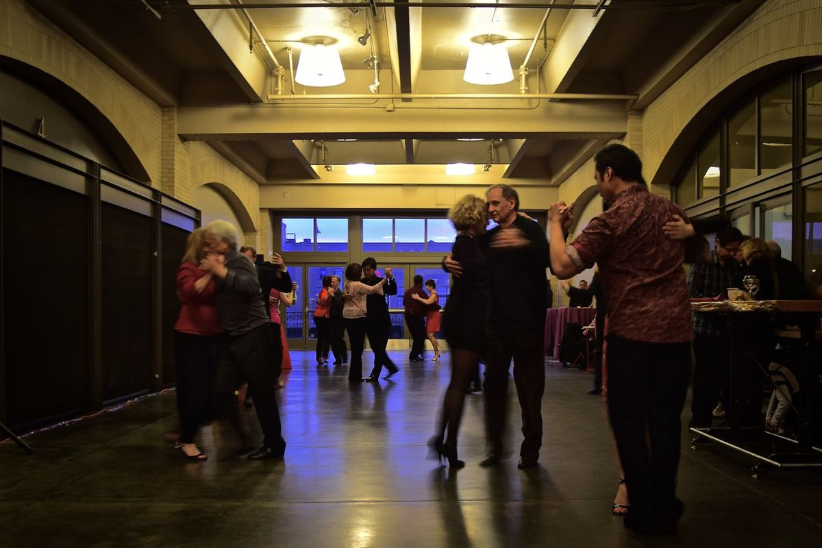 Ballroom dancing event, stumbled upon in the SF Ferry Building. Arts Culture And Entertainment Ballroom Dancing Does Not Cure Mentall Illness City Life Full Length Indoors  Interior Views Large Group Of People Music Real People Tango Dancing