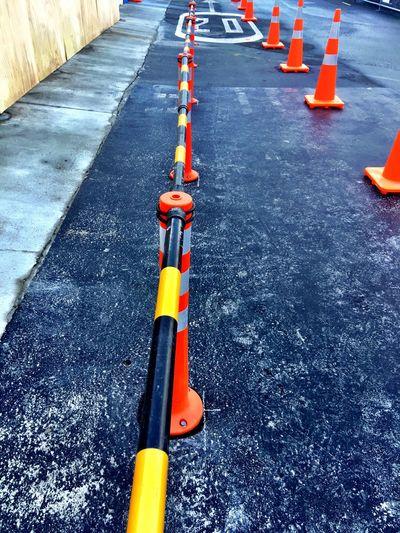 You must walk in the cone area Cones Road Cone Construction Footpath Road Walkway
