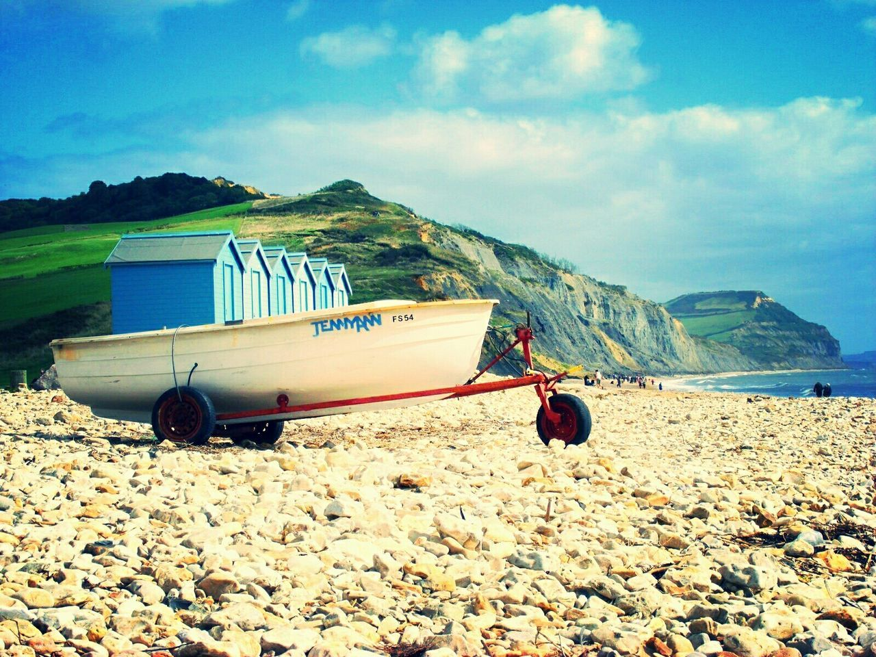 Charmouth, Dorset Beach Boats The Great Outdoors With Adobe Cliffs Pebbles On A Beach Pebbles Beach