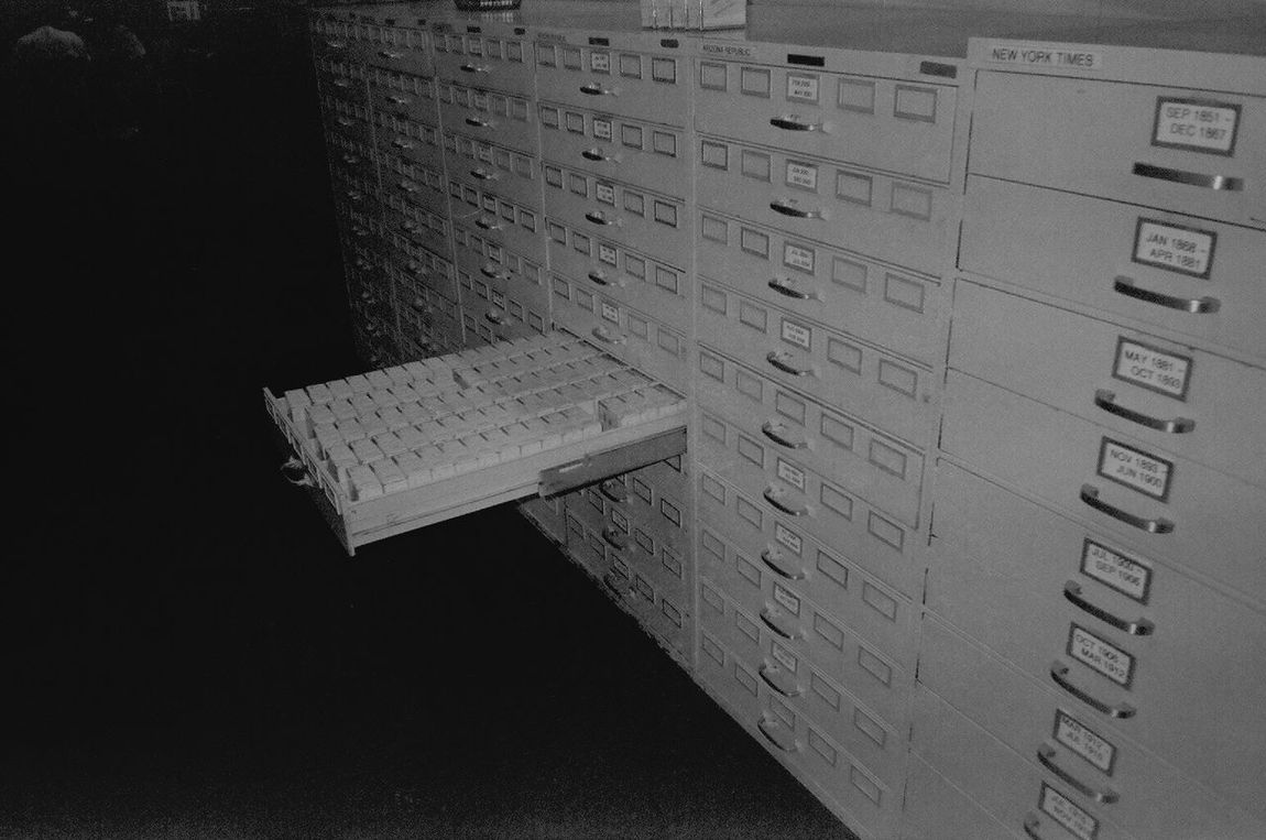 library faux pas -- from the 'real estate' series. full essay: http://tinyurl.com/gng8tsb 35mm Film Analogue Photography Banal Blackandwhite Card Catalogue Contemporary Photography Dark Background Filmisnotdead Index Cards Library Mundane No People Nothingisordinary Old School Open Drawer Pattern Pieces Phoenix Arizona Repeating Pattern Retro Still Life Vignette Fine Art Photography Contemporary Photography